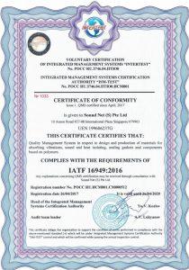 IATF16949 2016 Certificate of Comformity SNS M