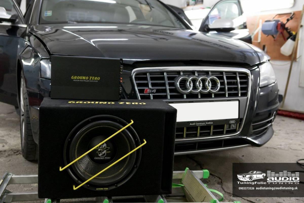 ZOSILNOVAC SUBWOOFER AUDI S4 GROUND ZERO -8084